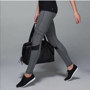 Lululemon Wunder Under Leggings Tights in Gray/Blk